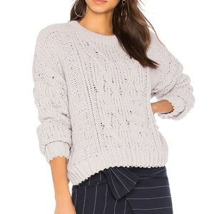 J.O.A Side Slit Cable Front Sweater